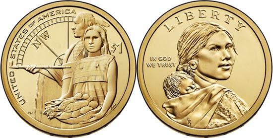 USA 2014, dólar native americano, imagen real | Tusmonedas