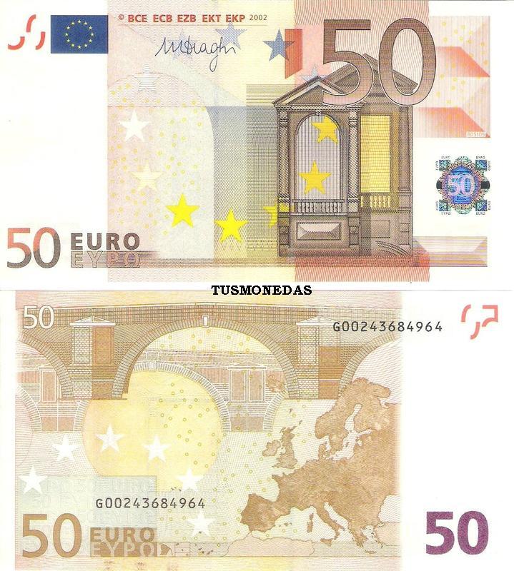 Foto de un billete de 50 euros 57