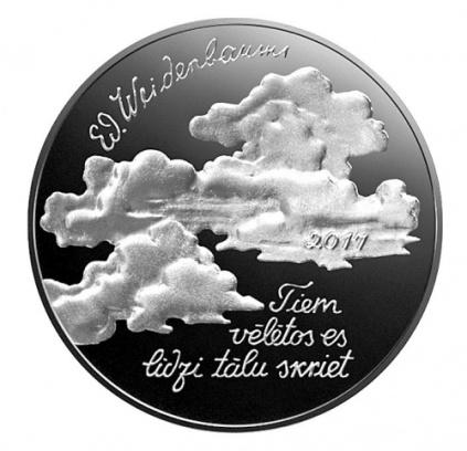 Letonia 2.5€ Eduard-Veidenbaums 2017a