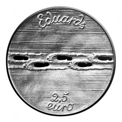 Letonia 2.5€ Eduard-Veidenbaums 2017b