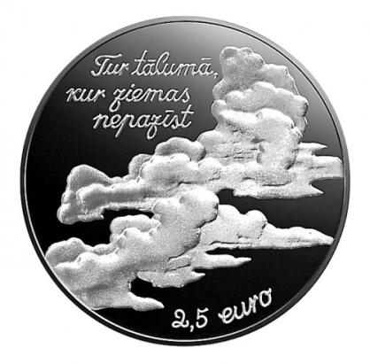 Letonia 2.5€ Eduard-Veidenbaums 2017c