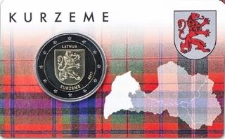 Letonia_2€ 2017_Coincard_Kurzeme