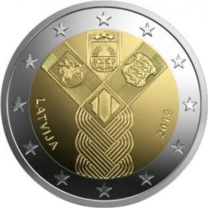 Letonia_2_euro_2018_Estados_ Balticos